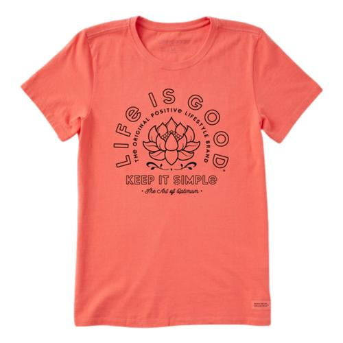Life is Good Women's Simple Lotus Crusher Tee Mangoorang