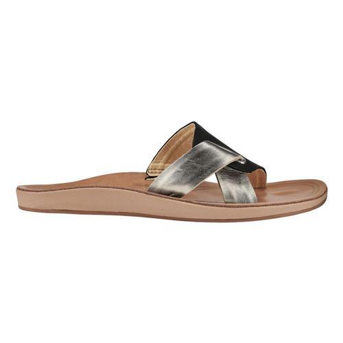 OluKai Women's Nonohe 'Olu Sandals Blk.Gsnd_40gs