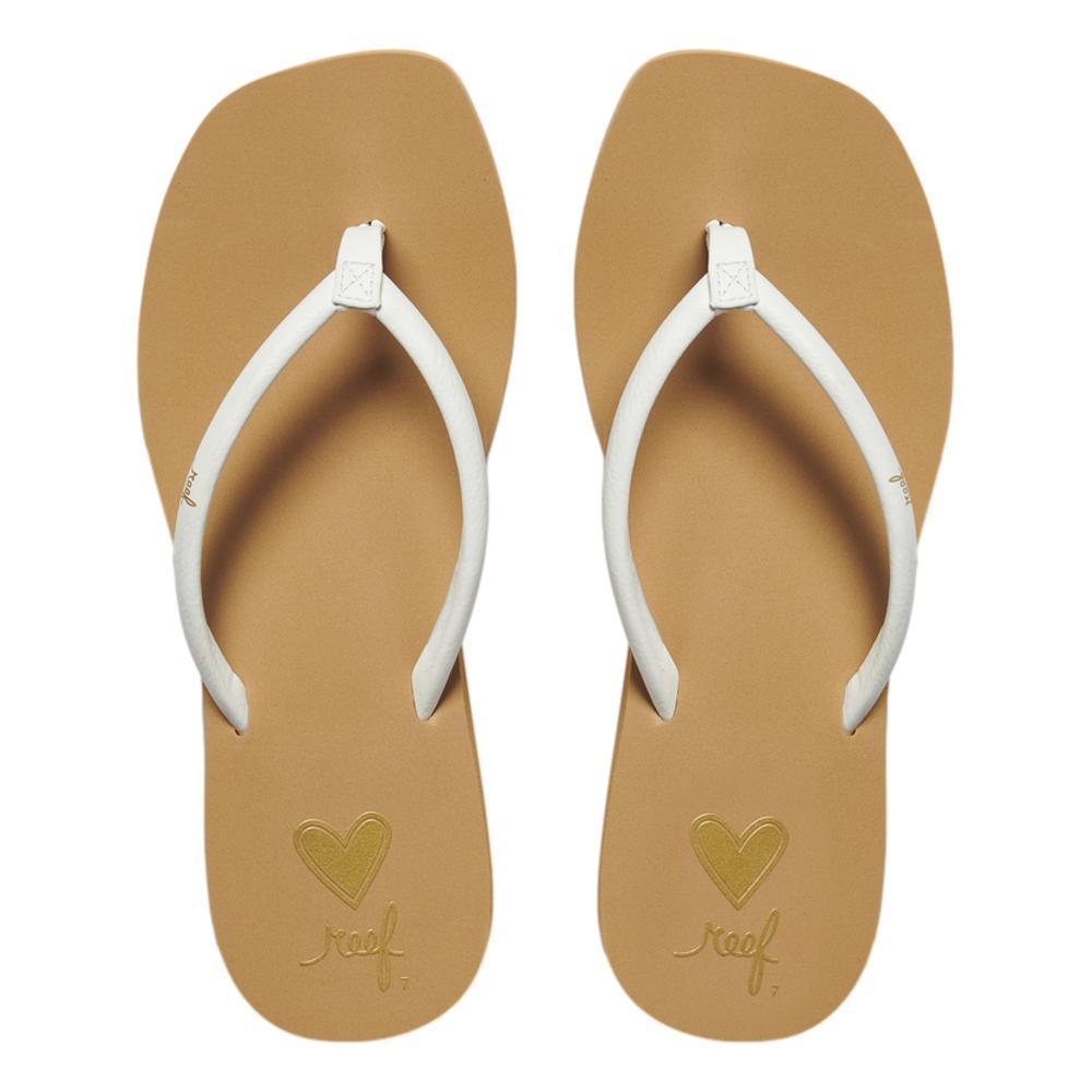 Reef Women's Seas Sandals TAN.WHT