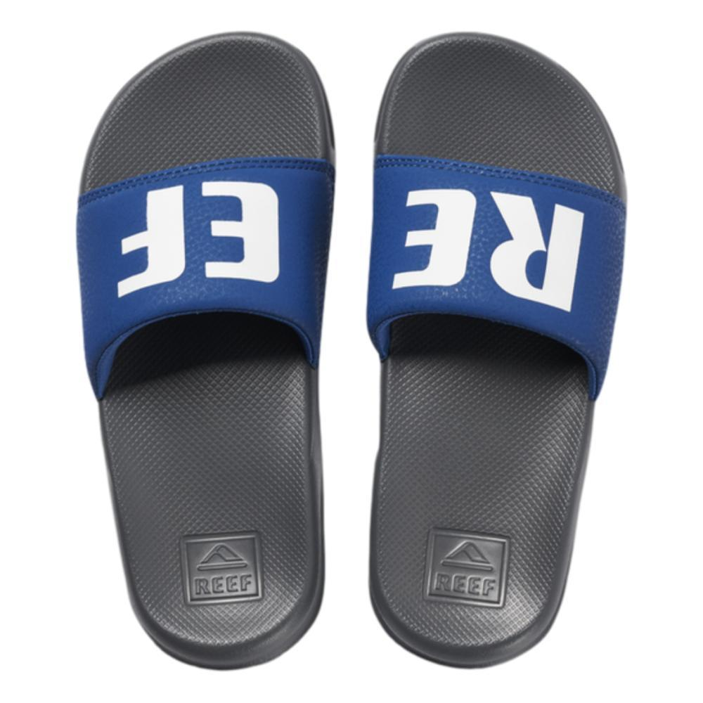Reef Kids One Slide Sandals GREY_BLUE