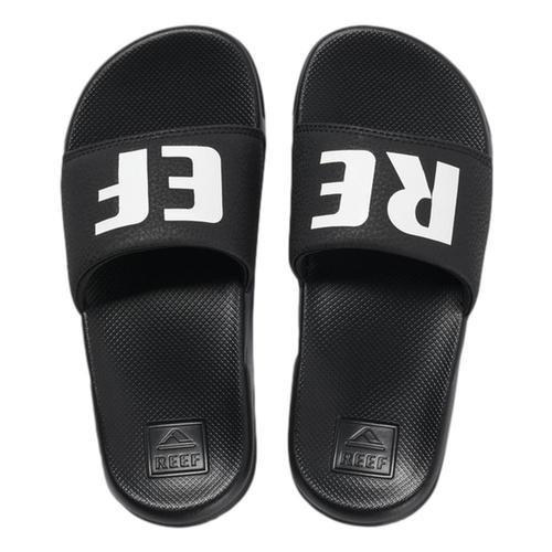 Reef Kids One Slide Sandals Black_white