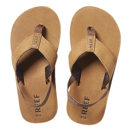 Reef Kids Little Leather Smoothy Sandals Bronze