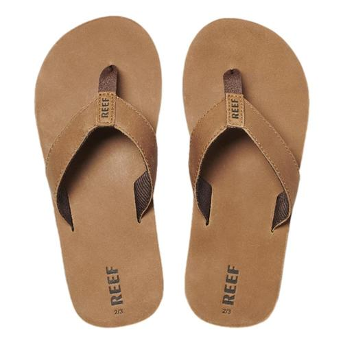 Reef Kids Leather Smoothy Sandals Bronze