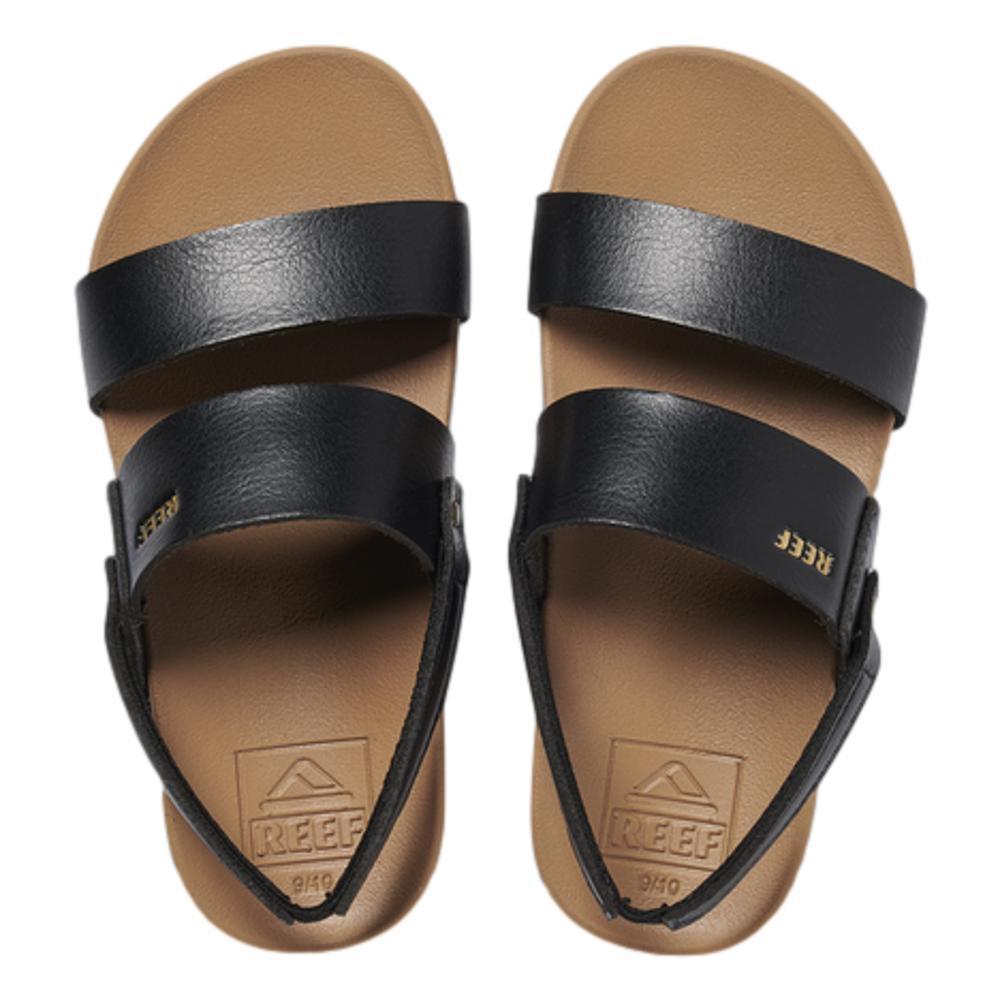 Reef Kids Little Cushion Vista Sandals BLACK