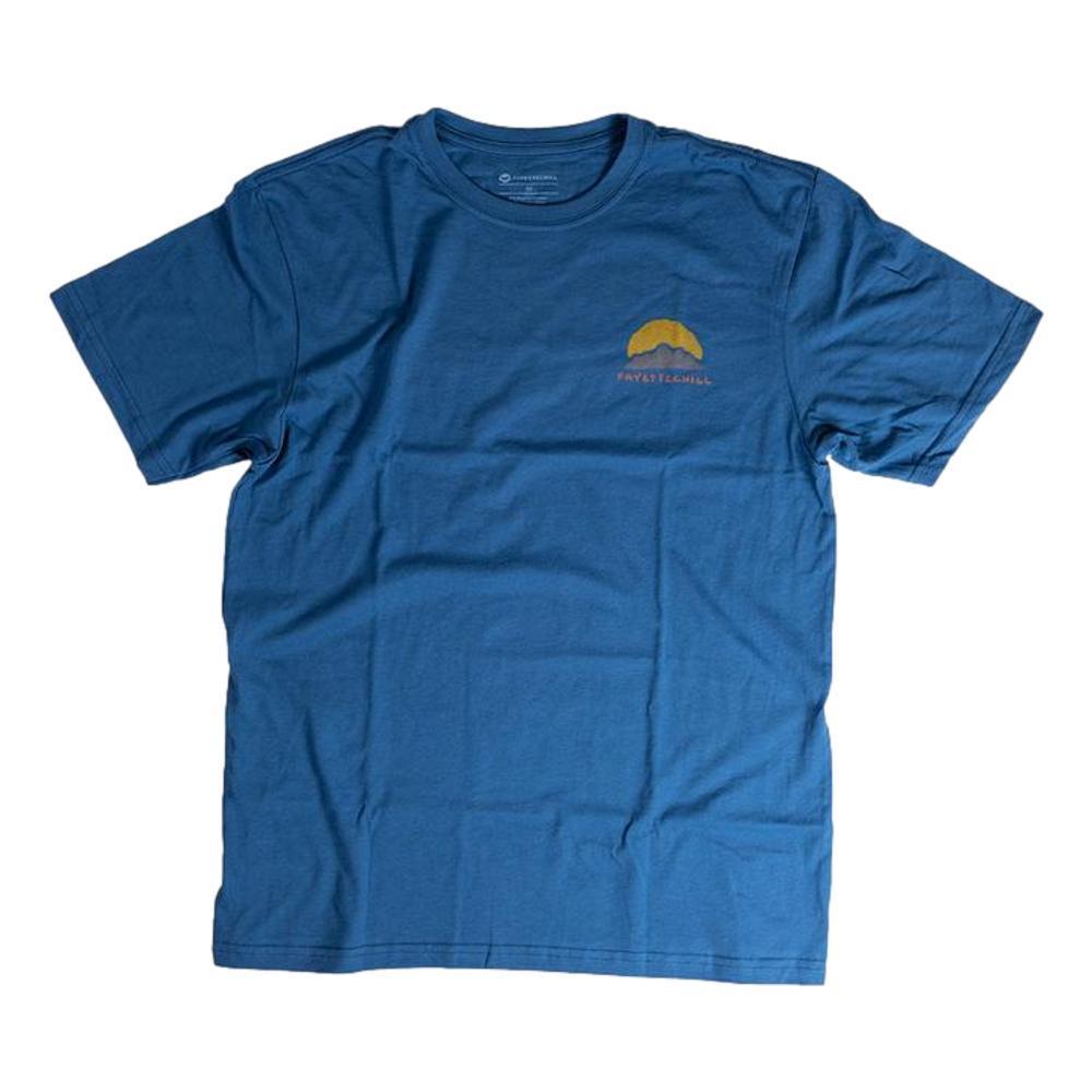 Fayettechill Men's Radiate Tee Shirt GLASSBLUE