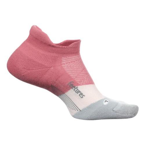 Feetures Unisex Elite Ultra Light No Show Tab Socks Polypink