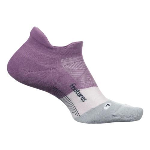 Feetures Unisex Elite Max Cushion No Show Tab Socks Purplenitr
