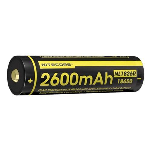 Nitecore NL1826R 2600mAh 18650 Rechargeable Battery Black