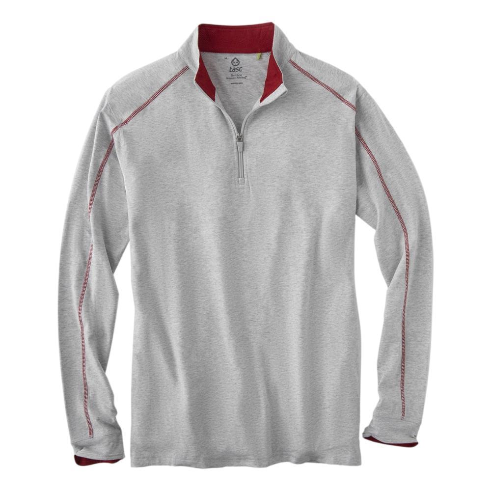 tasc Men's Carrollton Quarter Zip Top GREY/RED_056