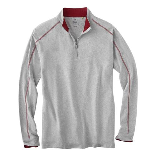 tasc Men's Carrollton Quarter Zip Top Grey/Red_056