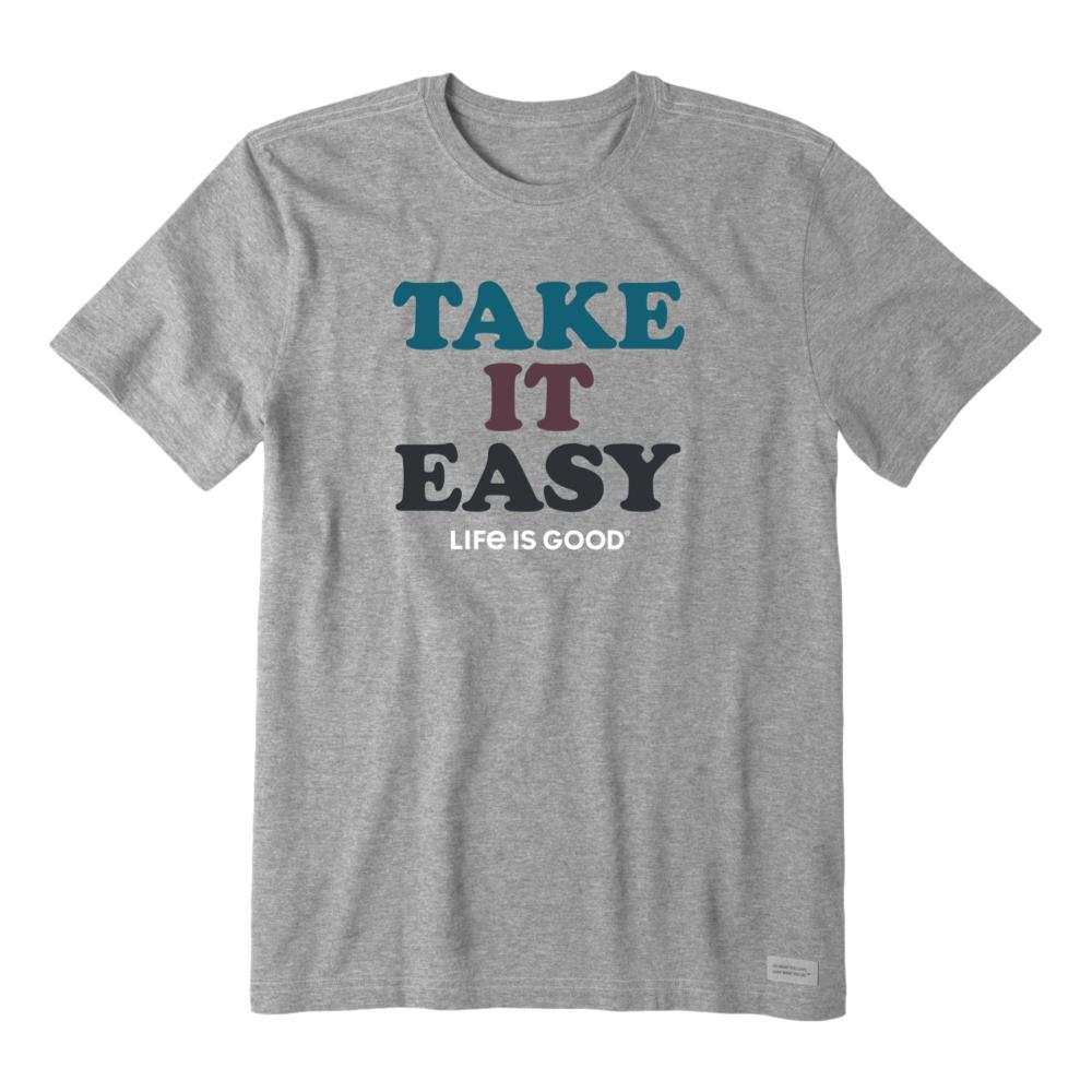 Life is Good Men's Take It Easy Crusher Tee HEATHERGRY