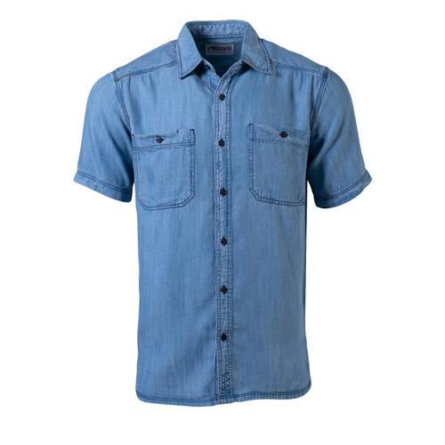 Mountain Khakis Men's Ace Indigo Short Sleeve Shirt Ltwash_517