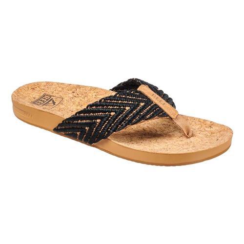 Reef Women's Cushion Strand Sandals Blk.Nat