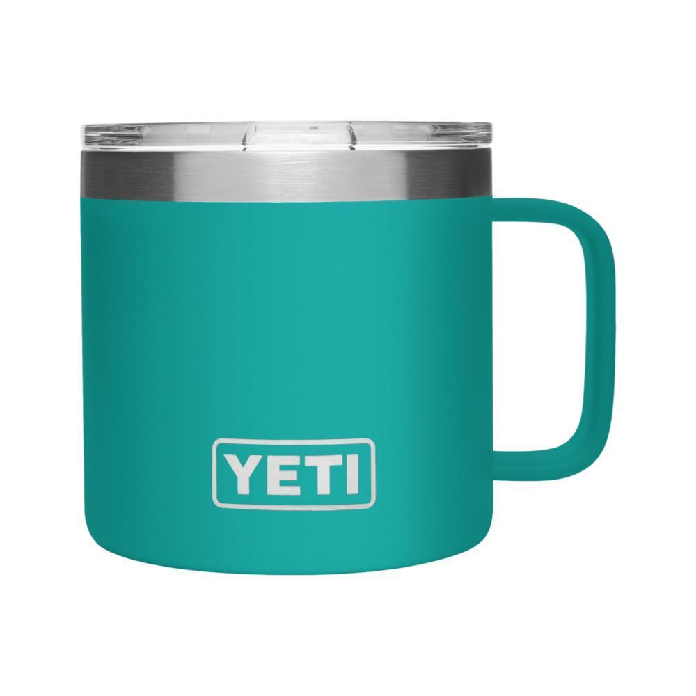 YETI Rambler 14oz Mug with MagSlider Lid AQUIFER_BLUE