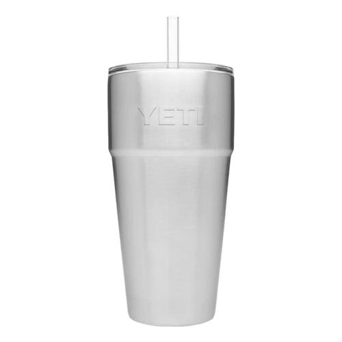 YETI Rambler 26oz Stackable Cup with Straw Lid Stainless_steel