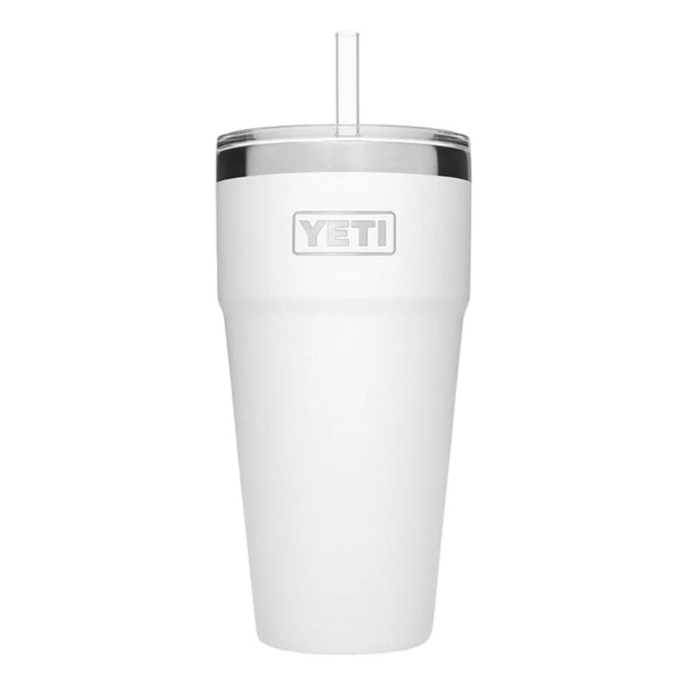 YETI Rambler 26oz Stackable Cup with Straw Lid WHITE