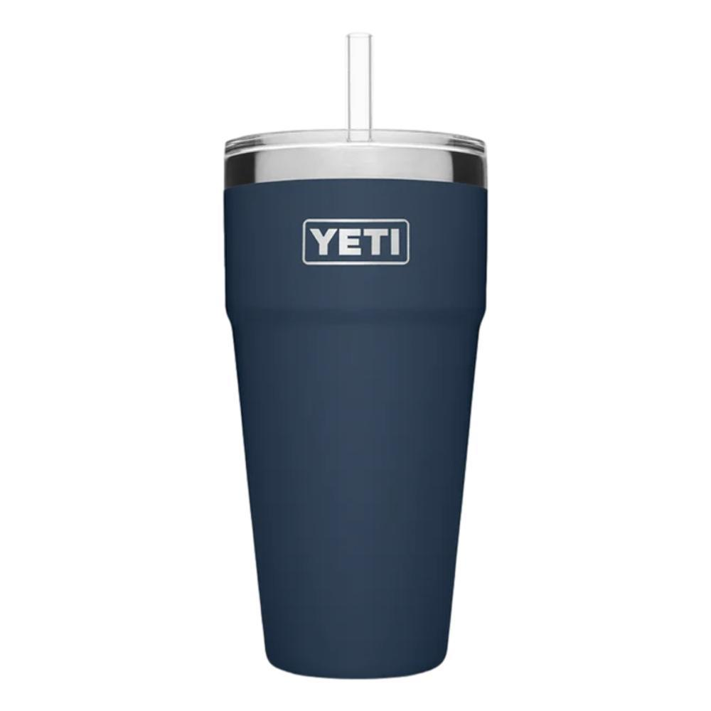 YETI Rambler 26oz Stackable Cup with Straw Lid NAVY