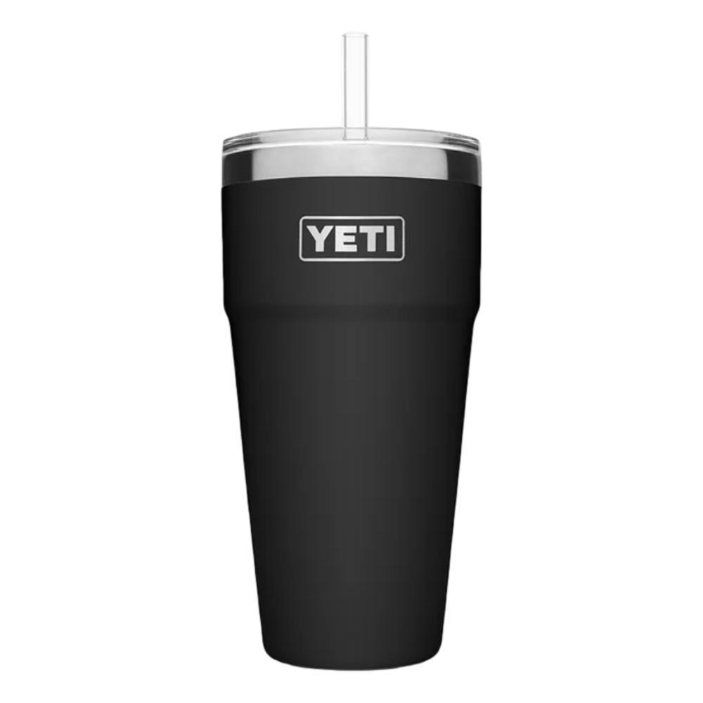 YETI Rambler 26oz Stackable Cup with Straw Lid BLACK