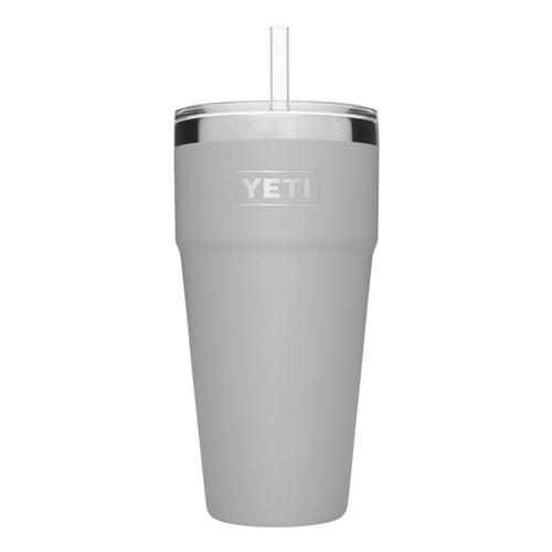 YETI Rambler 26oz Stackable Cup with Straw Lid Granite_grey