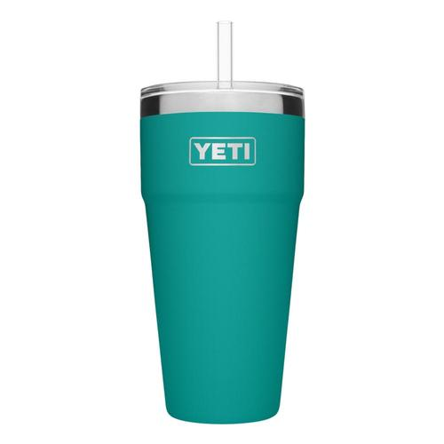 YETI Rambler 26oz Stackable Cup with Straw Lid Aquifer_blue