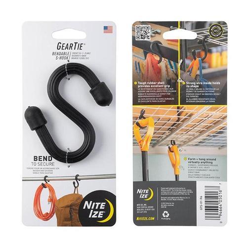 NiteIze Gear Tie Bendable S-Hook Black