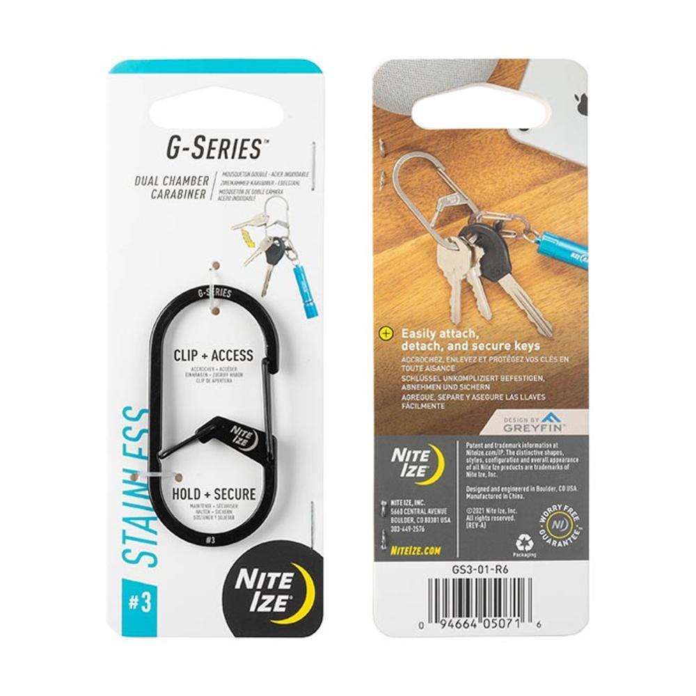 NiteIze G-Series Dual Chamber Carabiner #3 BLACK
