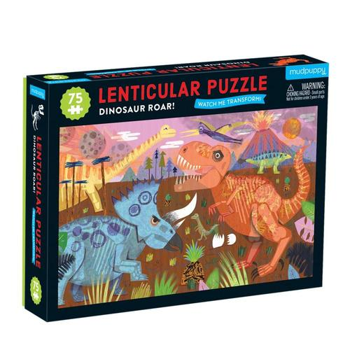 Mudpuppy Dinosaur Roar 75 Piece Lenticular Jigsaw Puzzle