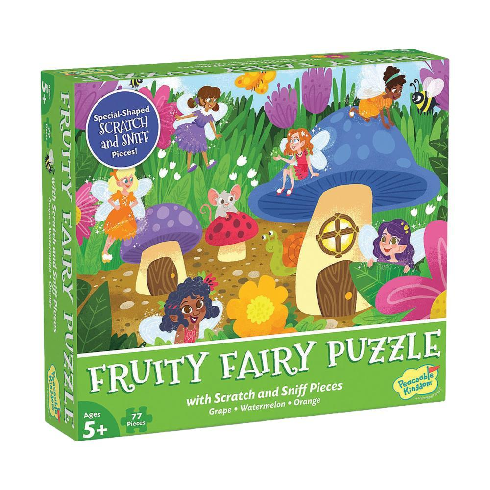 Mindware Scratch And Sniff 77 Piece Jigsaw Puzzle : Fruity Fairy