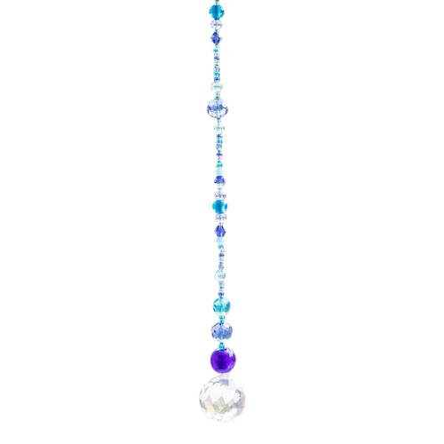 Natural Life Crystal Sun Catcher 14in- Blue