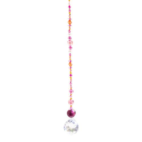 Natural Life Crystal Sun Catcher 14in- Magenta
