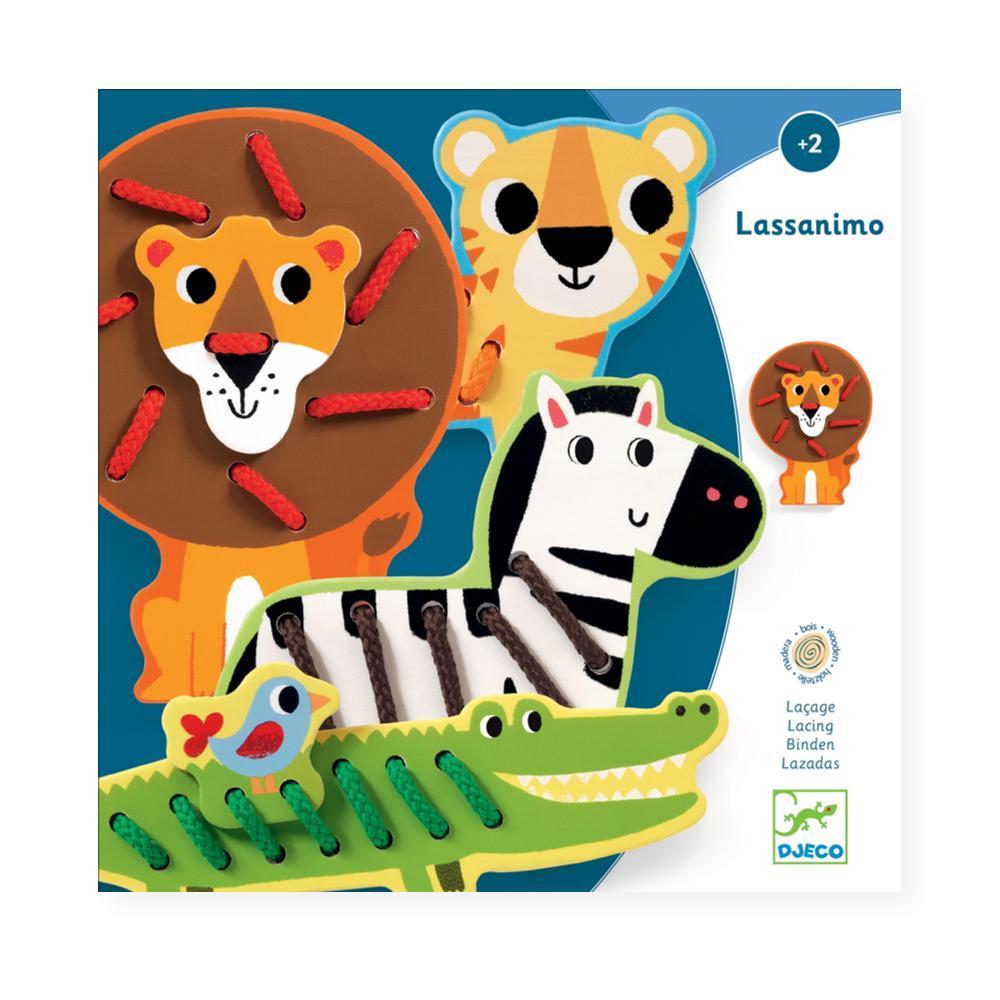 Djeco Lassanimo Lacing Card Set