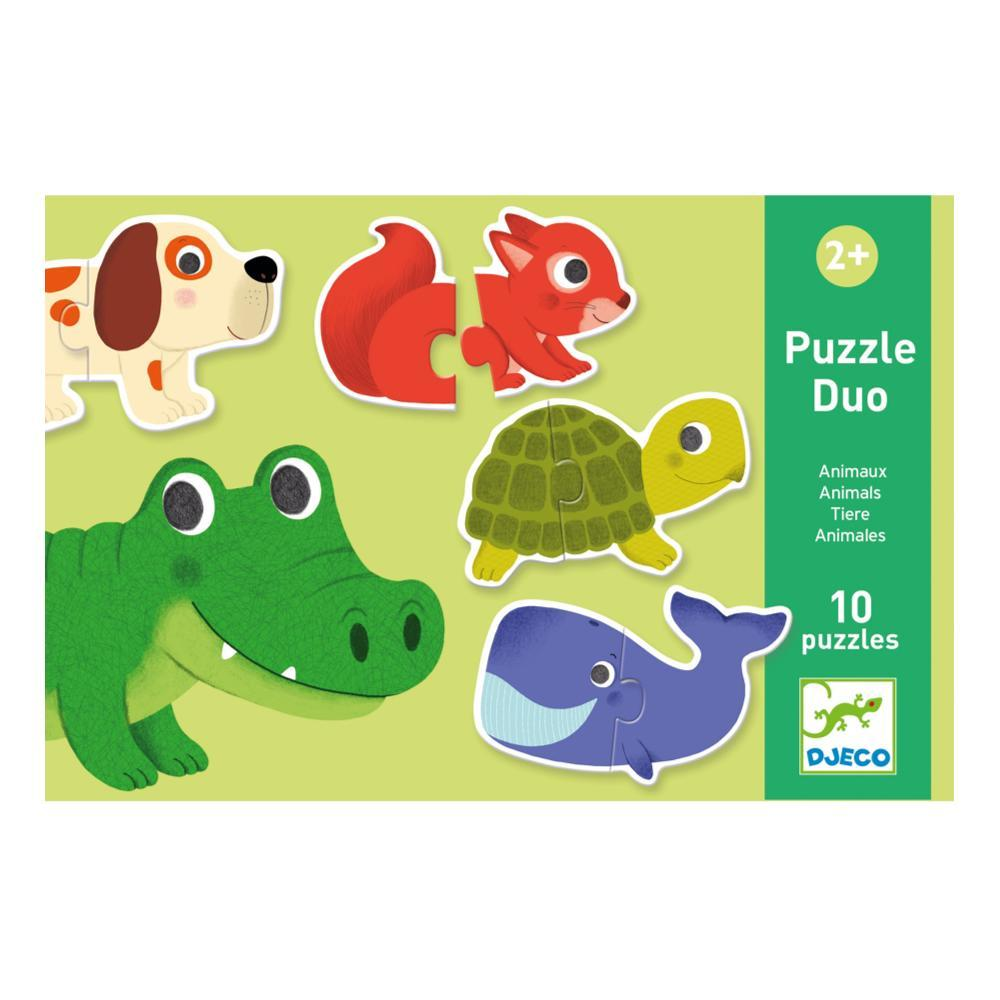 Djeco Animals Puzzle Duo Set