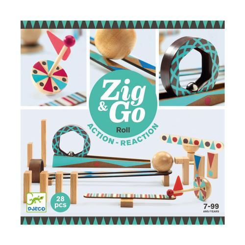Djeco Zig & Go Roll Set - 28pc