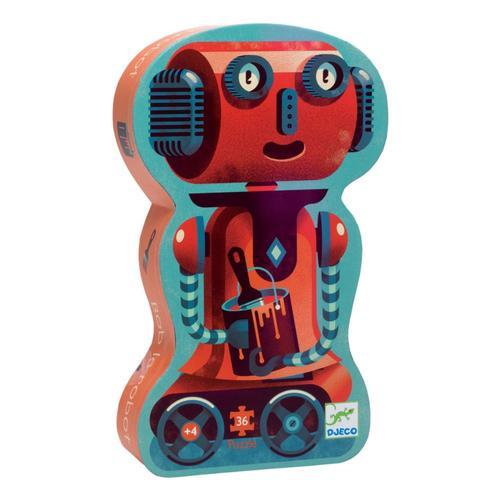 Djeco Bob The Robot Silhouette Jigsaw Puzzle - 36pc
