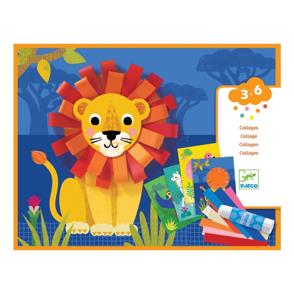 Djeco Animal Loops Collage Activity Kit