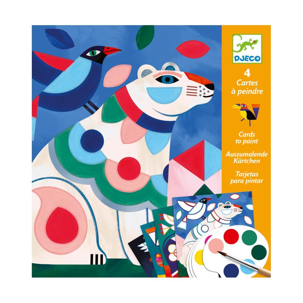 Djeco Fanciful Bestiary Painting Surprises Kit