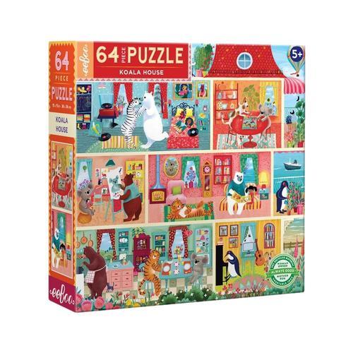 eeBoo Koala House 64 Piece Jigsaw Puzzle