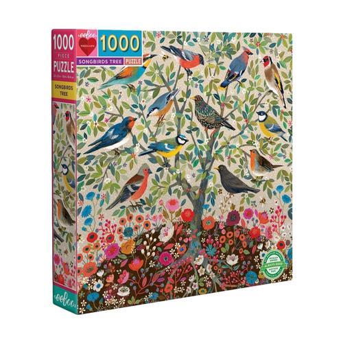 eeBoo Songbirds Tree 1000 Piece Jigsaw Puzzle