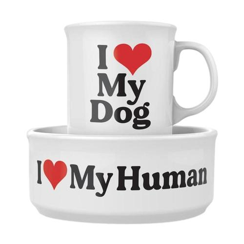 Fred Ceramic Mug + Dog Bowl Set