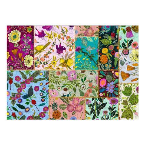 Greenbox Art Wildflowers Patchwork 1,000 Piece Jigsaw Puzzle