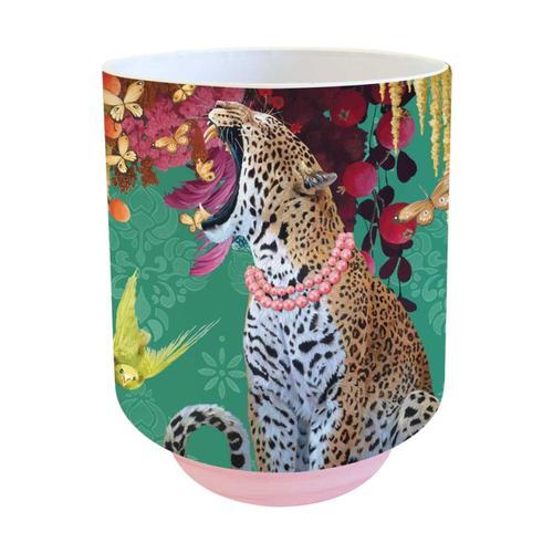 Greenbox Art Jungle Cats And Butterflies Vase