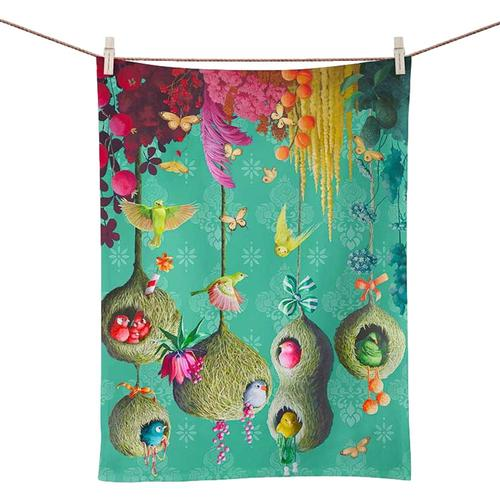 Greenbox Art Sky Nests Tea Towel