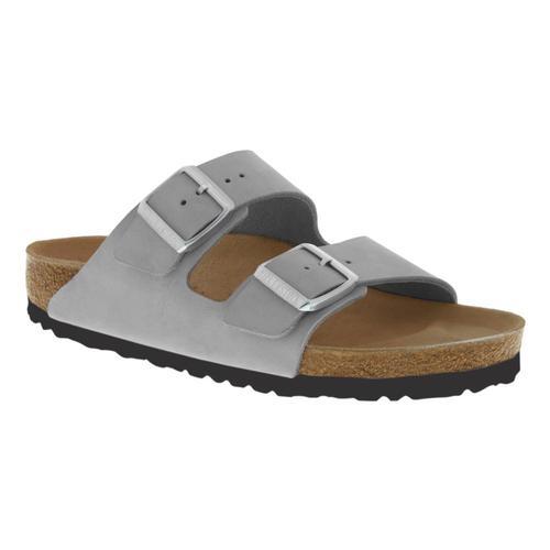 Birkenstock Women's Arizona Soft Footbed Birko-Flor Sandals - Regular Dvgray.Nb
