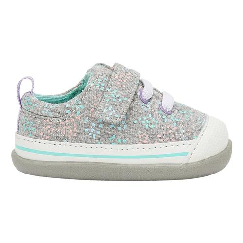 See Kai Run Toddlers Stevie (First Walker) Grey/Sprinkles Shoes Graysprnk