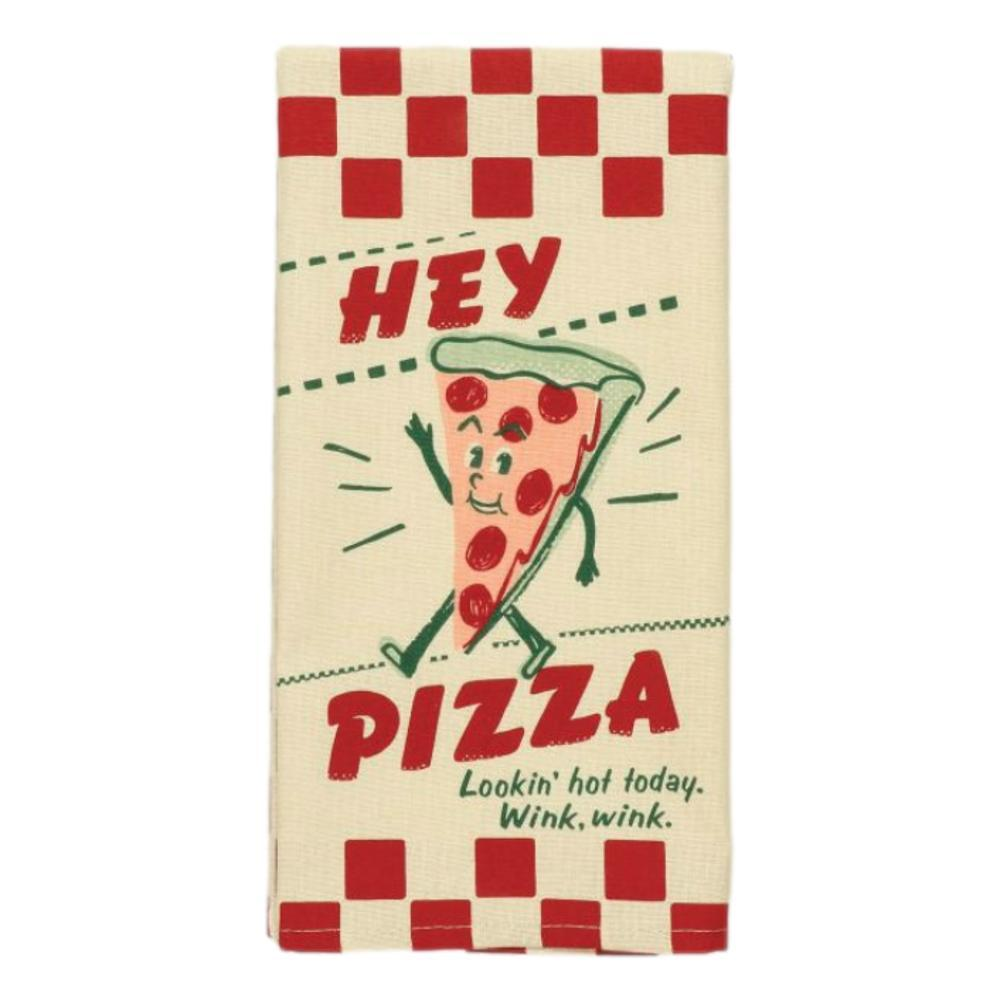 Blue Q Hey Pizza.Looking Hot Today.Wink, Wink Dish Towel