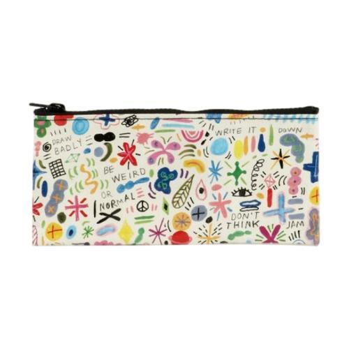 Blue Q Doodle Party Pencil Case