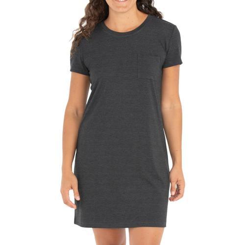 Free Fly Apparel Women's Bamboo Flex Pocket Dress Blackhthr