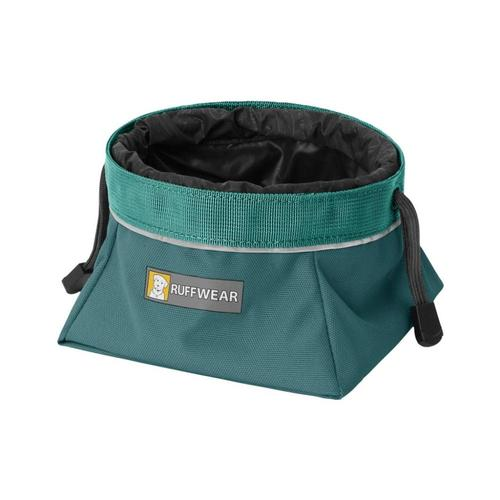 Ruffwear Quencher Cinch Top Packable Dog Bowl. Tumalo_teal