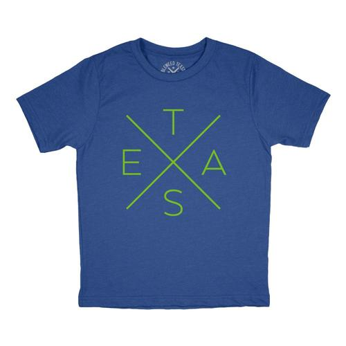 Tumbleweed Texstyles Big X T-Shirt (Youth) Roylblu_21