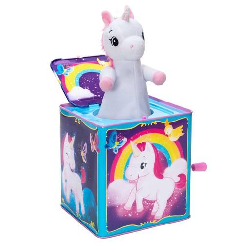 Schylling Pop and Glow Unicorn Jack in the Box